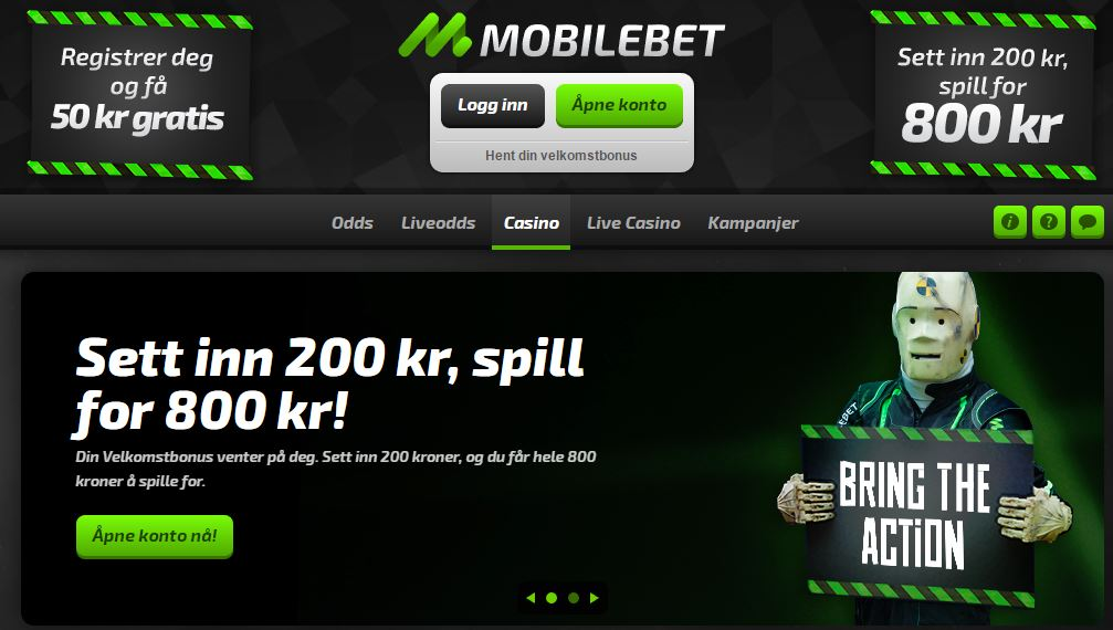 mobilebet homepage welcome offer